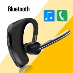 Business noise cancelling Bluetooth headset wireless headphone earbud Bluetooth  phone earphone black