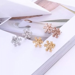Lovely Stud Earring Female Woman Party Jewelry Stainless Steel  Never Fade Drop Wholesale gold one size