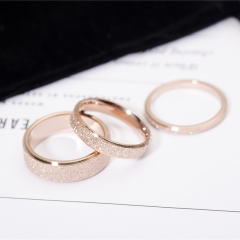Frosted Finger Ring For Woman Man Wedding Jewelry 316L Stainless Steel Top Quality Never Fade gold 5