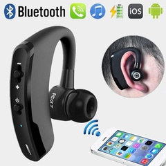 Handsfree Bluetooth Wireless Earphone Noise Cancelling Stereo Headphone with Microphone black