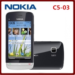 Refurbished Cheapest Unlocked Original Nokia C5-03 Mobile Phone GPS WIFI Bluetooth 3G 5MP smartphone blue