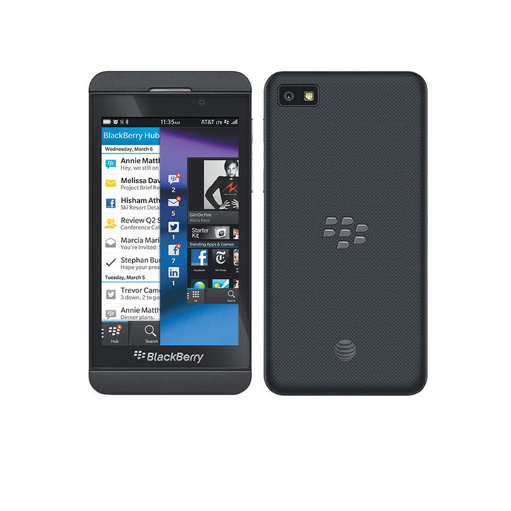 Blackberry Z10 (two batteries)  Mobile Phone GPS WIFI 3G 4G Phone 4.2'' Phone 2+16GB  Refurbished black