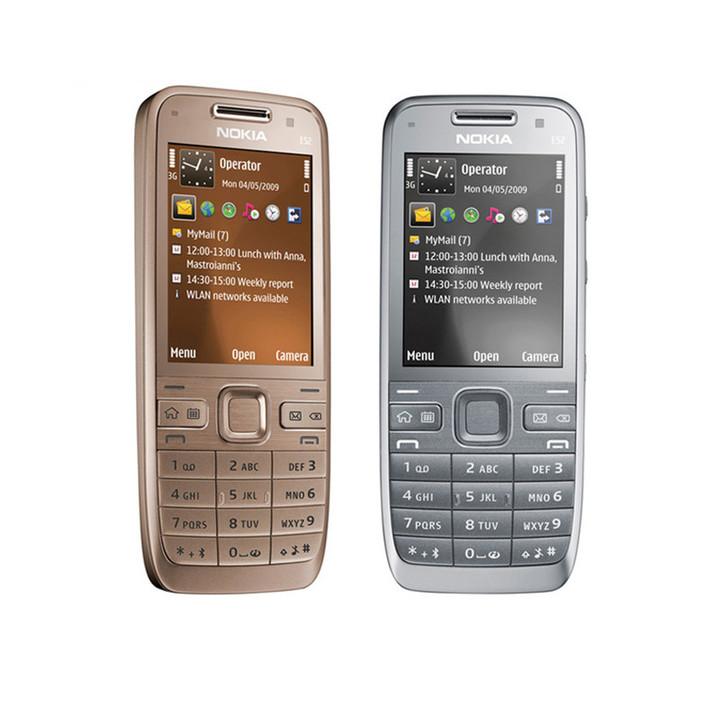 Nokia E52 Mobile Phone Bluetooth WIFI GPS E52 3G Certified Refurbished  Cell Phone  Keyboard Arabic black