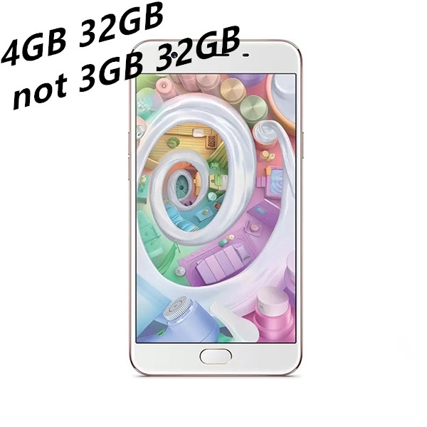 "OPPO F1S 5.5"" 4GB/32GB mobile phone smart phone 16MP/13MP Camera 4G smartphones gold"