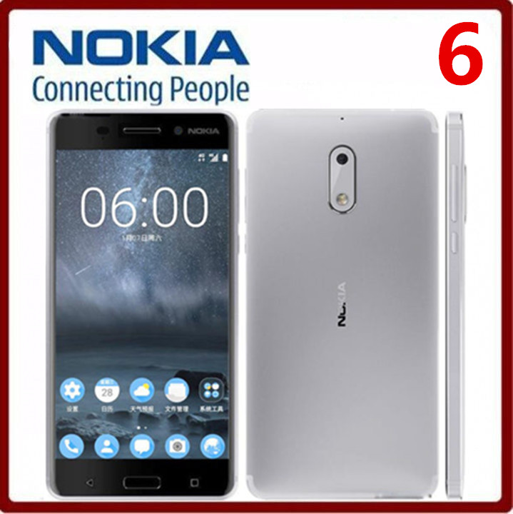 "Original Nokia 6 Single Dual SIM 32/64GB ROM 5.5"" 4GB RAM 16MP snapdragon 430 Android 7.0 Phone single sim card white"