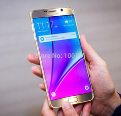 Samsung Galaxy Note 5 mobile phone 4GB RAM 16MP 5.7 '' touch single sim card 4G LTE gold