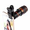 Clip-on 12x Optical Zoom Mobile Phone Telescope Lens HD Telescope Camera Lens For Universal Phones blackred one size