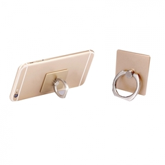 Universal 360 Degree Rotating Finger Ring Phone Stand Holder for Cell Mobile Phone gold one size