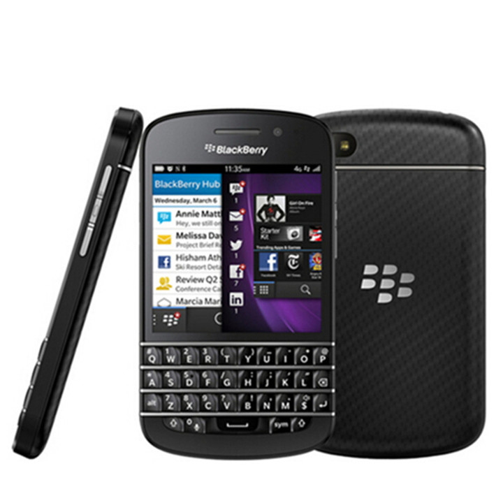 Original Blackberry Q10 Dual Core 8MP 16GB ROM 2GB RAM Bluetooth WIFI 2100mAh Smartphone black