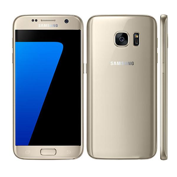 Original Samsung Galaxy S7 4G LTE Mobile Phones  5.1 inch 4GB RAM 32GB ROM 12MP Camera Phones gold