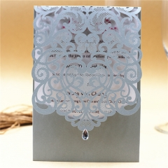 TBC 100pcs Wedding Card Cover Laser-cut Invitation Card Jacket WITHOUT insert Q019 125*186mm pick your color