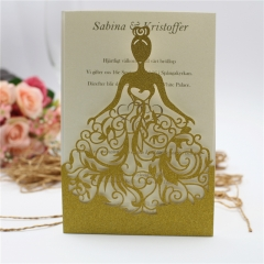 TBC 100pcs Wedding Card Cover Laser-cut Invitation Card Jacket WITHOUT insert Q061 125*186mm pick your color