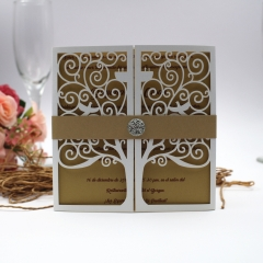 TBC 100pcs Wedding Card Cover Laser-cut Invitation Card Jacket WITHOUT insert Q079 150*150mm pick your color