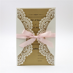 TBC 100pcs Wedding Card Cover Laser-cut Invitation Card Jacket WITHOUT insert Q125 125*186mm pick your color
