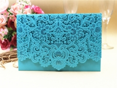 TBC 100pcs Wedding Card Cover Laser-cut Invitation Card Jacket WITHOUT insert Q108 125*186mm pick your color