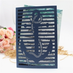 TBC 100pcs Wedding Card Cover Laser-cut Invitation Card Jacket WITHOUT insert Q112 125*186mm pick your color