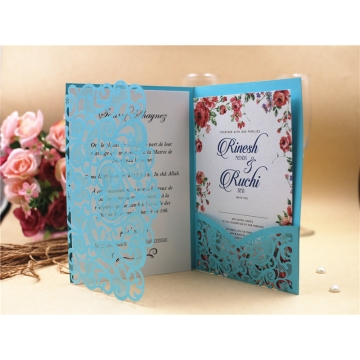 Kilimall wedding card laser cut invitation card jacket 125186mm wedding card laser cut invitation card jacket 125186mm pick your color stopboris Choice Image