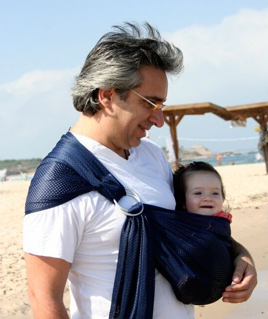TBC Baby wrap light-weighted simple durable and portable baby carrier Dark blue 200cm x 76 cm
