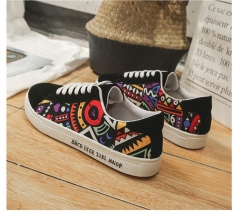 TBC Unisex fashion rubber shoe with tribal patterns African style affordable Black 43