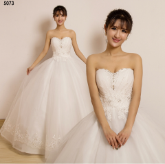 TBC Affordable wedding gown lovely sweet elegant wedding dress_PN-5073 s white