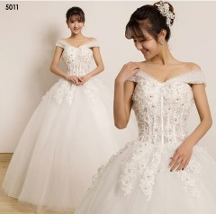 TBC Affordable wedding gown lovely sweet elegant wedding dress_PN-5011 m white
