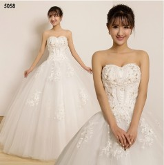TBC Affordable wedding gown lovely sweet elegant wedding dress_PN-5058 s white