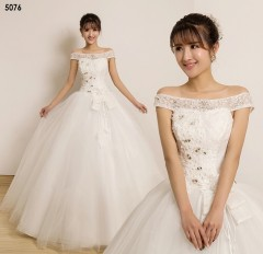 TBC Affordable wedding gown lovely sweet elegant wedding dress_PN-5076 s white