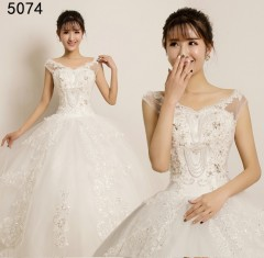 TBC Affordable wedding gown lovely sweet elegant wedding dress_PN-5074 m white