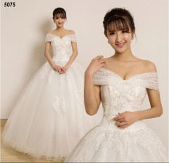TBC Affordable wedding gown lovely sweet elegant wedding dress_PN-5075 s white