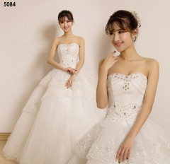 TBC Affordable wedding gown lovely sweet elegant wedding dress_PN-5084 s white