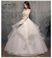 TBC Wedding dress flower decors off-shoulder unique designed ball gown s white