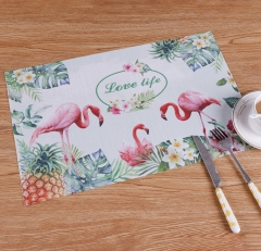 TBC Table mats PVC insulation mats with tropical patterns Pattern 1 4pcs 45*30cm