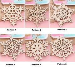 TBC Table mats Wooden insulation Cup mats Snow patterns pattern 1 4pcs 12*12cm