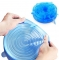 TBC Silicone Strechable lids bowl covers for fridge FBK Blue 6in1