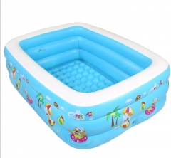 TBC Kids swimming pool Inflatable Pool portable pools waterplay backyard pools FBK Blue 150x100x50cm