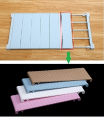 TBC Cover Plate for Strechable Wardrobe separators FBK Blue w35cm