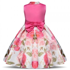 TBC Fancy girl's dress with flower patterns non-sleeve design Rosy 150