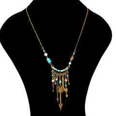 TBC African style arrow necklace with finetribal design golden one size
