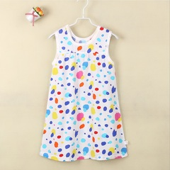 TBC Toddler's daily dress simple short dress cotton dress colorspots 55#