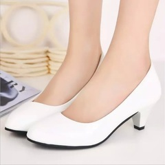 TBC Women's oversize shoes low heels work shoes daily shoes round-toe shoes White 36