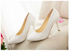 TBC Women's oversize heels office shoes high-heel shoes evening shoes wedding shoes white 36