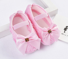 TBC Baby shoes newborn shoes cute for baby girls flower butterfly shoes Butterfly-pink Szie11