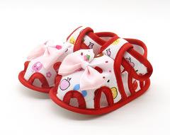 TBC Baby shoes newborn shoes cute infant sandals soft-sole flat shoes Red szie11