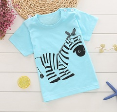 TBC Unisex cotton T-shirts for kids cartoon tops Boys Girls Toddlers T-shirts 1-6 years Design 1 55# Cotton