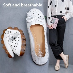 TBC Women's comfortable loafers daily shoes flat shoes *tight-fitting white summer 36
