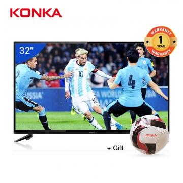 "KONKA  32"" 1080P HD Ultra Frame Digital LED TV  + Football  Gift Model:KDE32ML311ATS Black 32"
