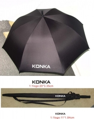 KONKA HIGH QUALITY BUSINESS UMBRELLA(NOT FOR SALE) BLACK