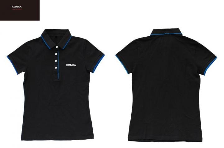 (NOT FOR SALE)Konka Short Sleeve Shirt Unisex Fashion Shirts Cotton Casual Slim Fit Tops BLACK xxxl 100% cotton