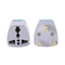 Universal UK Plug Adapter European Chinese Power Socket White Travel Converter Conversion Plug white
