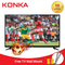 (Flashsale Price for AFCON,Limited Stock 100PCS )KONKA 32 Inch HD Digital TV with Free TV Wall Mount Black 32